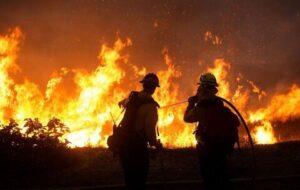 آتش سوزی در ایوق بخش مهربان